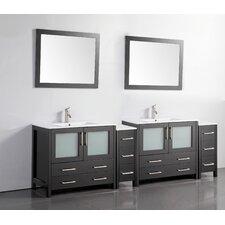 96 Double Bathroom Vanity Set with Mirror by Vanity Art