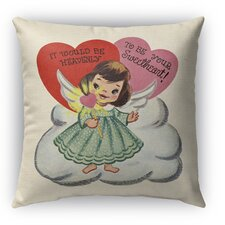 To Be Your Sweet Heart Burlap Indoor/Outdoor Throw Pillow by Kavka