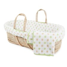 Plush Fleece Moses Basket Bedding Set