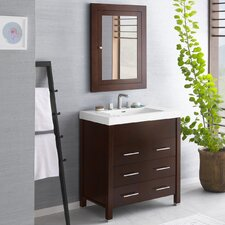 Kali 31 Single Bathroom Vanity Set with Mirror by Ronbow