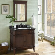 Solerno 36 Single Bathroom Vanity Set with Mirror by Ronbow