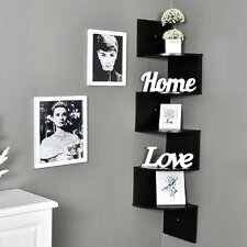 Large 5 Tiers Corner Wall Shelf by Welland LLC