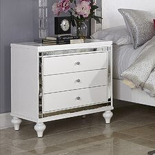 Paltrow 3 Drawer Nightstand by House of Hampton