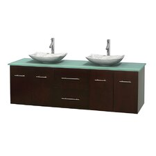 Centra 72 Double Bathroom Vanity Set by Wyndham Collection