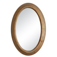 Sonoma Brown Oval Mirror