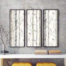 """Birch Tree Peel and Stick 20.5' x 16.5"""" Wallpaper Roll"""