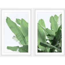 'Palm Bay Diptych' Framed Painting Print