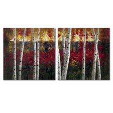'Autumn Aspens' Wall Art Set