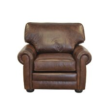 Fenway Studio Genuine Top Grain Leather Club Chair by Westland and Birch