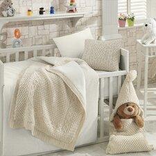 Naturel Wool Blended 6 Piece Crib Bedding Set