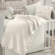 Rose Garden Wool Blended 6 Piece Crib Bedding Set