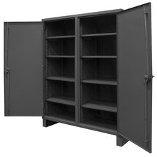 Extra Heavy Duty Welded 12 Gauge Steel Lockable Double Shift Storage Cabinet