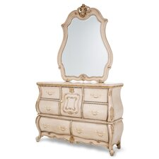 Lavelle 6 Drawer Dresser with Mirror by Michael Amini (AICO)