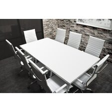 Lucidum 9 Piece 6' Rectangular Conference Table Set