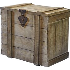 Small Wooden Home Chest by Household Essentials