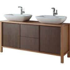 59 Double Bathroom Vanity Set by InFurniture