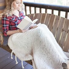 Comfy Knit Cotton Throw