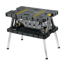 Folding Compact Table Polypropylene Resin Top Workbench