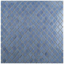 "Arabesque 1.87"" x 2.75"" Porcelain Mosaic Tile in Blue"