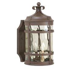 Oakhill Rustic Iron 2-Light Outdoor Wall Lantern