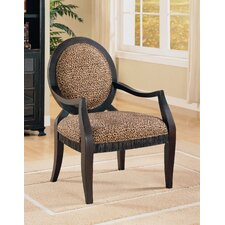 Leopard Print Distressed Fabric Armchair by House of Hampton