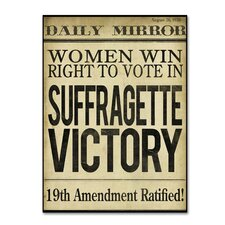 'Women's Right to Vote' by Color Bakery Textual Art on Wrapped Canvas