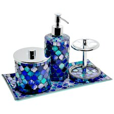 Mosaic 4 Piece Bathroom Accessory Set
