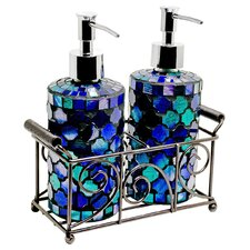Cylinder Mosaic Soap Dispenser