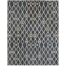 Anatole Hand-Crafted Blue Area Rug