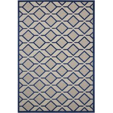 Taschen Navy Indoor/Outdoor Area Rug