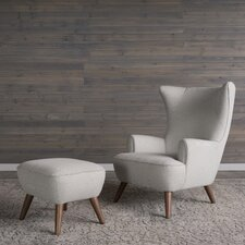 Ruby High Back Armchair and Ottoman by Corrigan Studio®