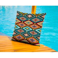 Tribal African Fabric Pattern Outdoor Throw Pillow by East Urban Home