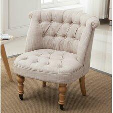 Aurore Linen Tufted Wheeled Slipper Chair (Set of 2) by Lark Manor