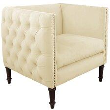 Zanuck Fabric Nail Button Arm Chair by House of Hampton®