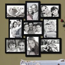 9 Opening Decorative Wall Hanging Collage Basket Weave Picture Frame