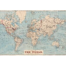Gilbertson Map of The World Wall Mural