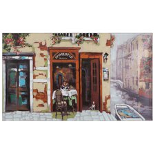 Revealed Artwork Venitian Canal Painting on Wrapped Canvas