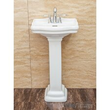 Roosevelt Pedestal Bathroom Sink with Overflow