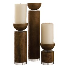 Pillar Wood Candle Holder