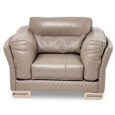 Mia Bella Monica Leather Chair and a Half by Michael Amini (AICO)