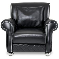 Mia Bella Lugano Leather Gents Club Chair by Michael Amini (AICO)