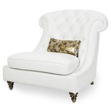Mia Bella Damario Tufted Leather Barrel Chair by Michael Amini (AICO)