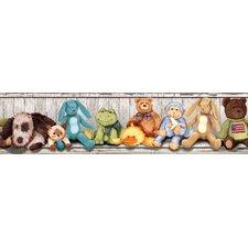 "Studio Designs Cuddle Buddies Peel and Stick 15' x 5"" Wildlife Border Wallpaper"