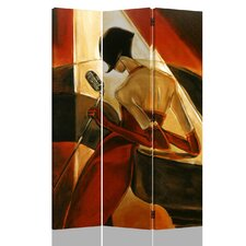Belden 71 x 53 Double Sided Canvas Painting 3 Panel Room Divider by House of Hampton