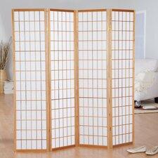 "Hoceima 72"" x 72"" Oriental Shoji 4 Panel Room Divider"