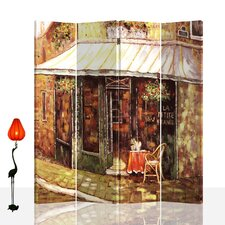 Dothan 71 x 71 Double Sided Canvas Painting 4 Panel Room Divider by Andover Mills