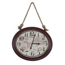 "16.5"" Deep Red Nautical Wall Clock"