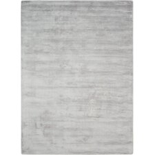 Lunar Hand-Woven Luminescent Rib Platinum Area Rug