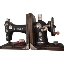 Singer Sewing Machine Shelf Tidy Bookends (Set of 2)