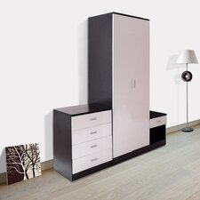 High Gloss 3 Piece Bedroom Set